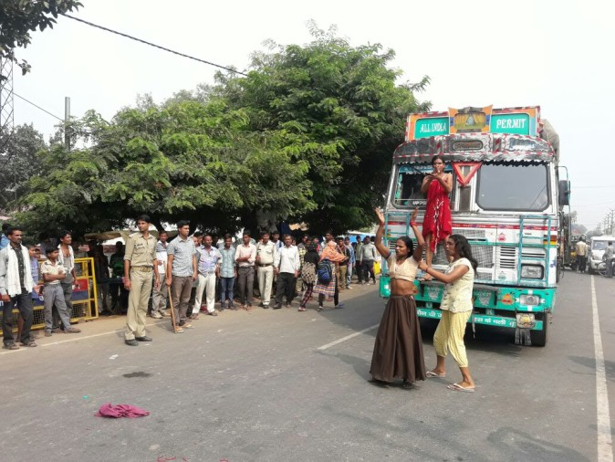 Nude Protest Of Kinnar In Agra -        -6152