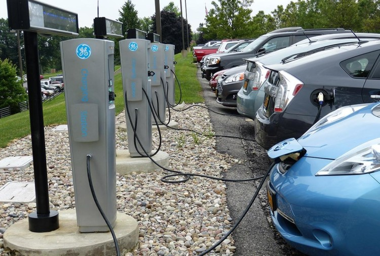 Electric car charging (File Photo)