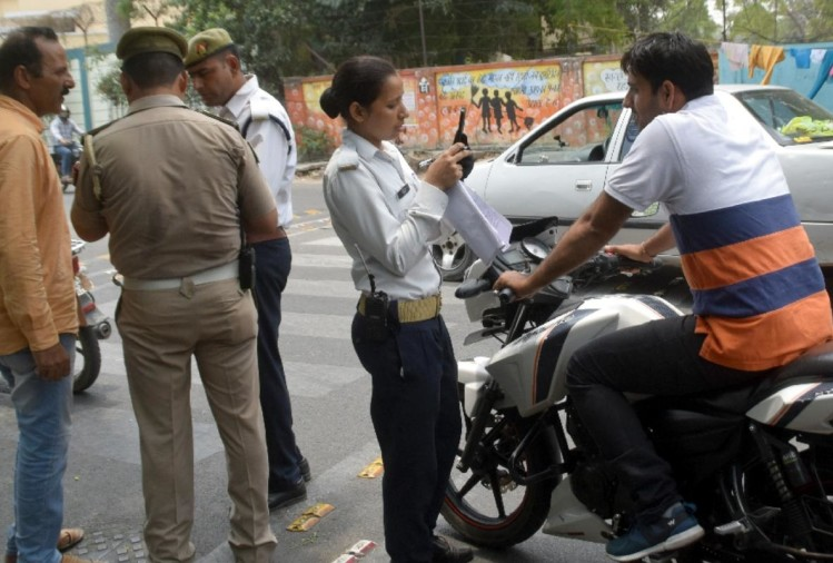 Traffic police, meerut police, meerut news