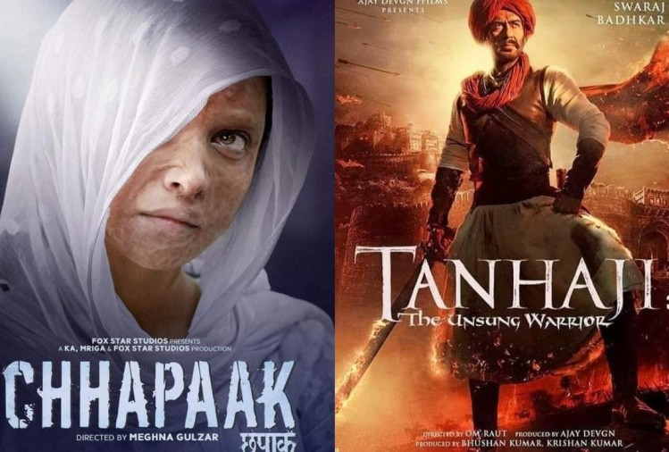 Chhapaak, Tanhaji the Unsung Warrior