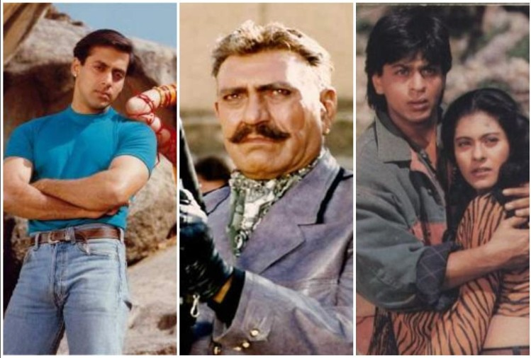 Salman, Amrish Puri, Shahrukh and Kajol