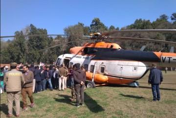 लैंड होते ही मिट्टी में धंस गए सीएम के हेलीकॉप्टर के टायर: