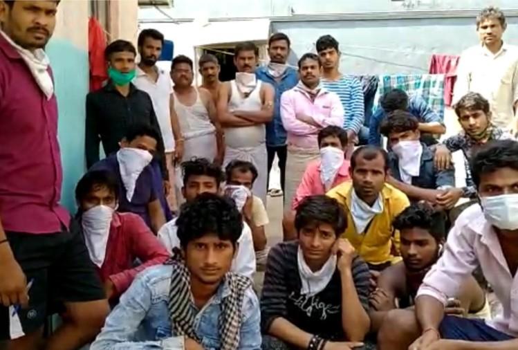 उत्तर प्रदेश के गोरखपुर जिले के जंगल कौड़िया ब्लाक के उतरा शोध गांव के 50 से अधिक मजदूर रोजी रोटी की तलाश में घर बार छोड़कर केरल गए थे।