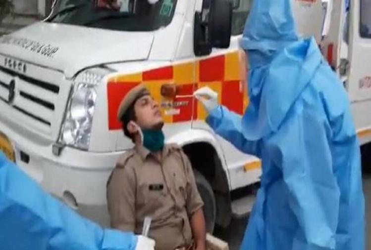 हजियापुर में कोरोना पॉजिटिव केस मिलने से स्वास्थ्य विभाग और प्रशासन के अफसर वैसे ही दहले हुए थे, कि एक संक्रमित युवक की पत्नी ने उन्हें और ज्यादा परेशान कर दिया।