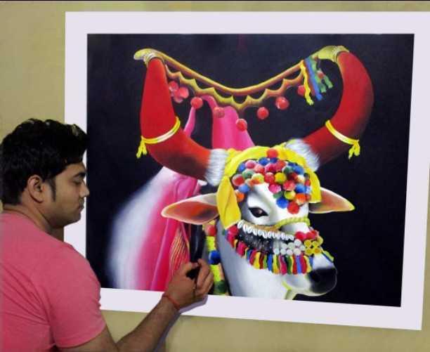 कोरोना वायरस के चलते हुए लॉक डाउन की अवधि में मशहूर चित्रकार शिवाशीष शर्मा इन दिनों घर पर रहकर नई- नई पेंटिंग्स बना रहे हैं। शिवाशीष बताते हैं कि उनके पास अलीगढ़ तथा दिल्ली के करीब सात पेंटिंग्स के आर्डर हैं जो उन्हें अप्रैल तक देने हैं।